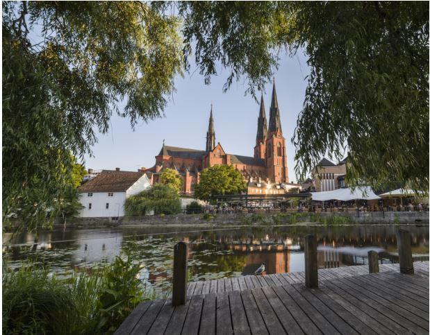 Em Uppsala, 1/3 das viagens dentro da cidade são feitas de bicicleta Foto:© Domkyrkan © wwf