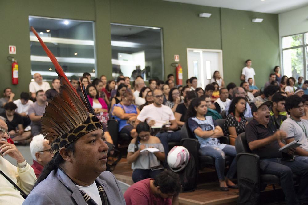 (Na imagem está o líder Marcos Apurinã (Foto (Crédito: Inpa)