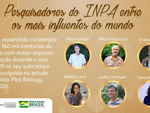 Dois pesquisadores do Inpa estão entre os 100 mil cientistas mais influentes do mundo