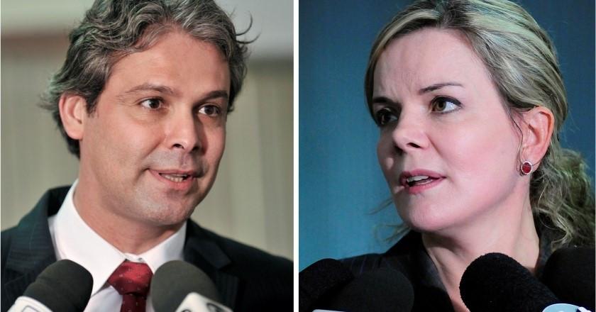 Senadores Lindbergh Farias e Gleisi Hoffmann