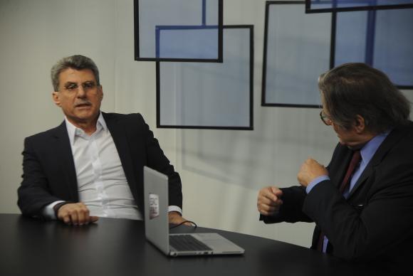 O senador Romero Jucá particpou do programa Espaço Público da TV Brasil desta terça-feira (21) Foto: Agência Brasil