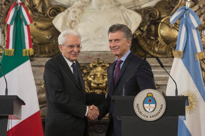 Buenos Aires, Argentina- Presidente argentino, Mauricio Macri, recebe a visita do presidente da Itália, Sergio Mattarella.Foto: Romina Santarelli / Ministerio de Cultura de la Nación.