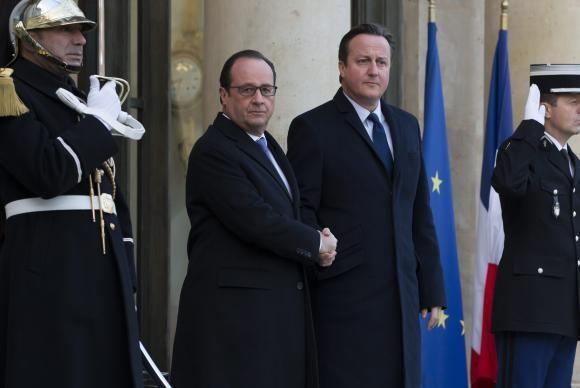 O presidente francês, François Hollande, e o primeiro-ministro britânico, David CameronAgência Lusa
