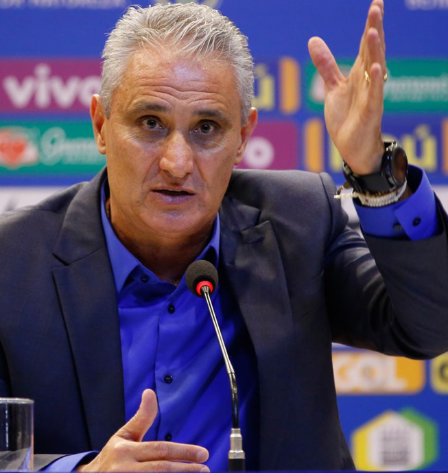 O técnico da seleção brasileira, Tite, anuncia os jogadores convocados para disputar a Copa América - Fernando Frazão/Agência Brasil