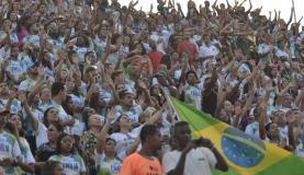 Marcha para Jesus - Pela família, pelo Brasil e contra a Corrupção, saiu da Central do Brasil em direção à Praça da Apoteose, no SambódromoTomaz Silva/Agência Brasil