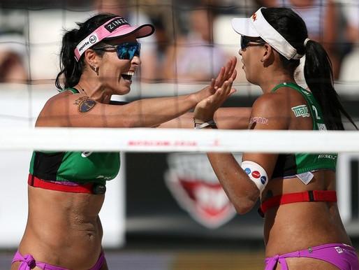 Brasil leva duas pratas no circuito mundial de vôlei de praia