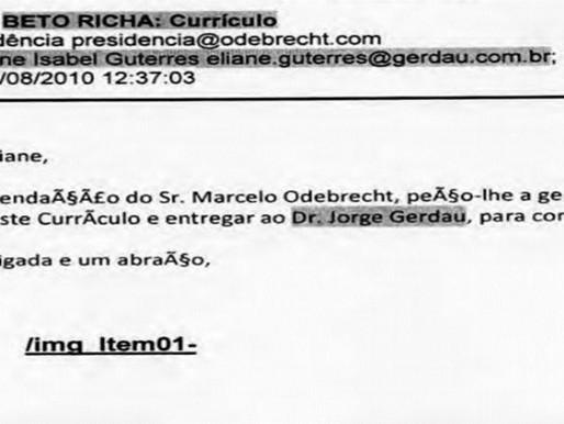 Nome de Richa é citado em emails apreendidos pela PF na Lava Jato