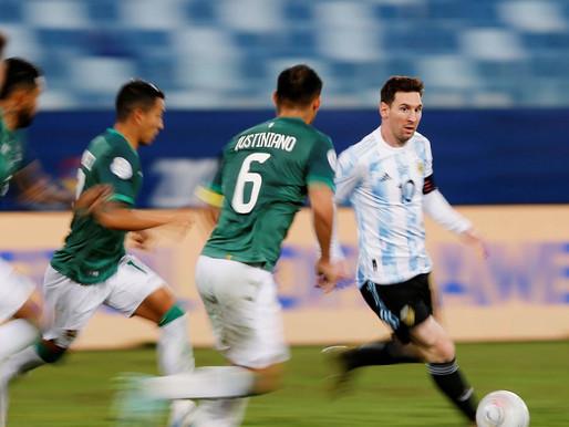 Com show de Messi, Argentina goleia Bolívia por 4 a 1