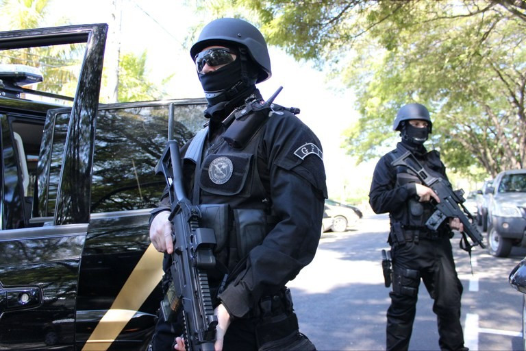 Na prática, a operação de segurança já começou Foto: Polícia Federal