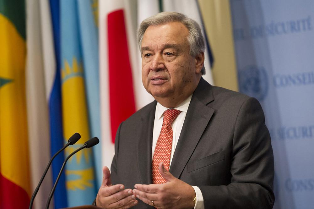 O secretário-geral das Nações Unidas, António Guterres. Foto: ONU / Rick Bajornas