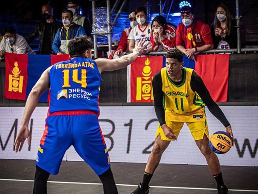 Basquete 3x3: Brasil vence Mongólia e segue em busca da vaga olímpica