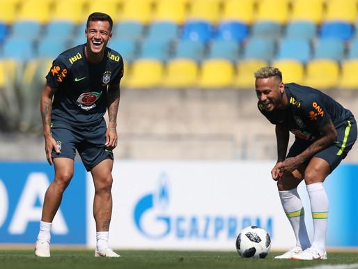 Seleção brasileira se prepara para enfrentar a Sérvia
