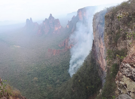 ICMBio combate incêndio na Chapada dos Guimarães