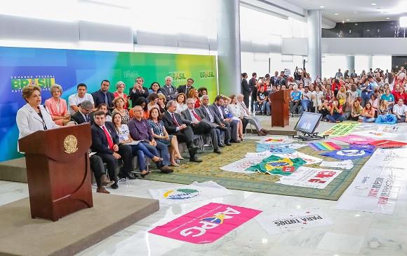 """Sobre o áudio, Dilma afirmou: """"Se ainda havia alguma dúvida sobre o golpe, a farsa e a traição em curso, não há mais. Há um golpe de Estado em andamento"""". Foto: Roberto Stuckert Filho/PR"""