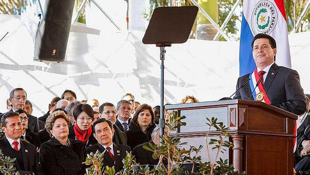 O presidente paraguaio, Horacio Cartes, em seu primeiro discurso como chefe de Estado, em agosto de 2013 / Roberto Stuckert Filho