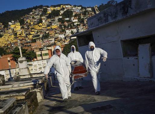 Brasil amplia ranking macabro com 1.437 novas mortes diárias por Covid