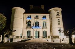 Vue de nuit mairie peyrehorade