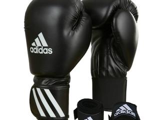 Kits para treino Adidas - Luvas de Boxe Muay Thay e Bandagens numa só compra