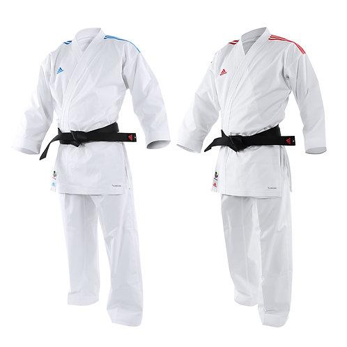 Kit Kimono Karate adidas AdiLight - Lista Vermelha e Azul