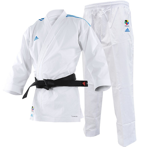 Kimono Karate Adidas AdiLight com Listra Azul