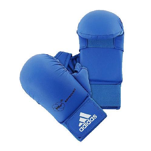 Luva Adidas Karatê com Dedão Azul WKF Old Collection