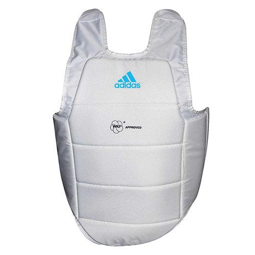 Protetor de tórax Adidas Karatê WFK Branco/Azul