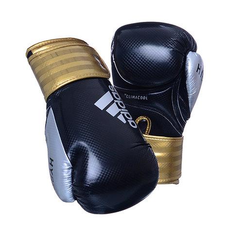 Luva de Boxe Adidas Hybrid 65 Preto/Dourado