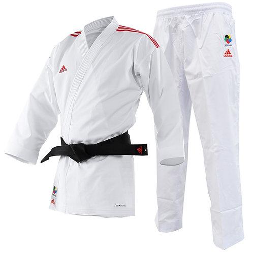Kimono Karate Adidas AdiLight com Listra Vermelha