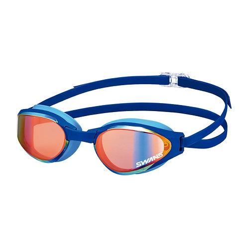 Óculos para Natação SWANS SR-81MPAF Lente Curvada Azul Espelhada