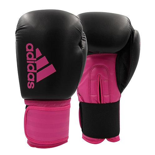 Luva de Boxe Adidas Hybrid 100DF Dynamyc Fit Shock Pink/Preta/Silver