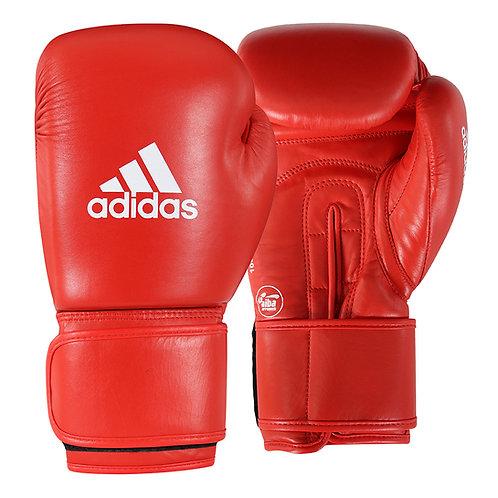 Luva de Boxe adidas AIBA Approved Couro Vermelha