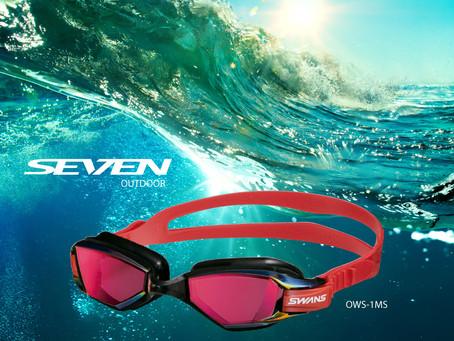 Swans OWS-1MS - Óculos de Natação para grandes Travessias, Águas abertas e Triathlon.