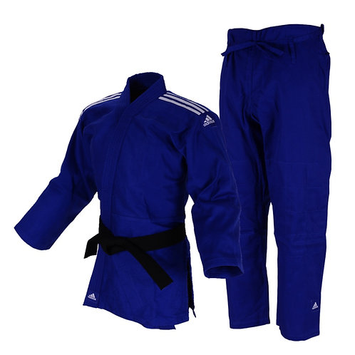 Kimono Judô Club Adidas Azul Trançado