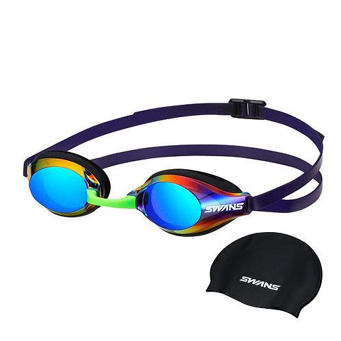 Óculos para Natação SWANS Aqua Lighting SR-3M Lente Espelhada + Touca208