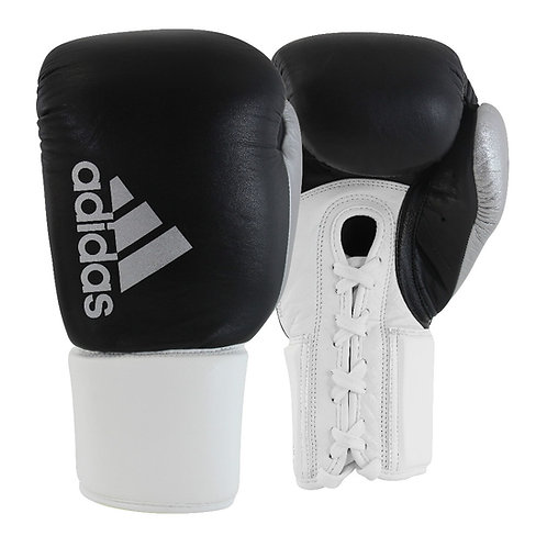 Luva de Boxe Muay Thai Adidas Hybrid 400 Pro Lace Branco/Preto