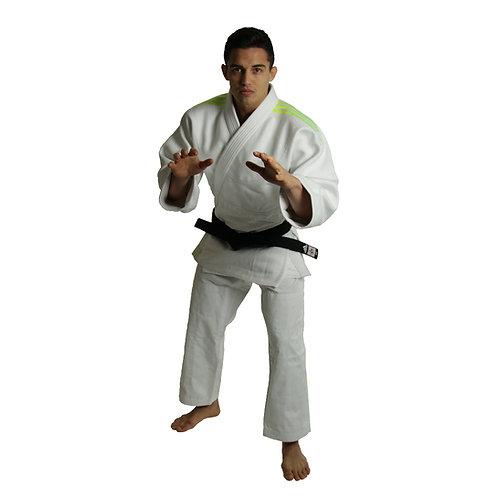 Kimono Judo J990 adidas Millenium Lista Verde