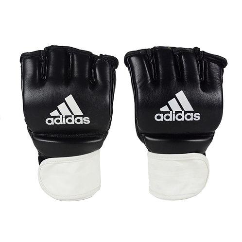 Luva Adidas MMA em Couro Preto/Branco