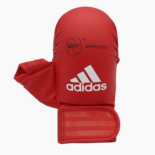 Luva Adidas Karatê com Dedão Vermelha WKF