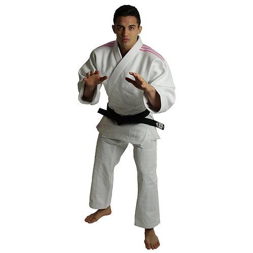 Kimono Judo J990 adidas Millenium Lista Rosa