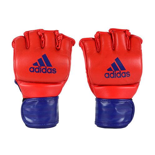 Luva Adidas MMA em Couro Vermelho/Azul