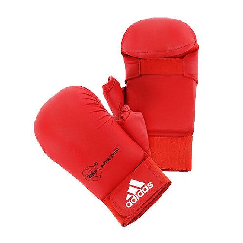 Luva Adidas Karatê com Dedão Vermelho WKF Old Collection