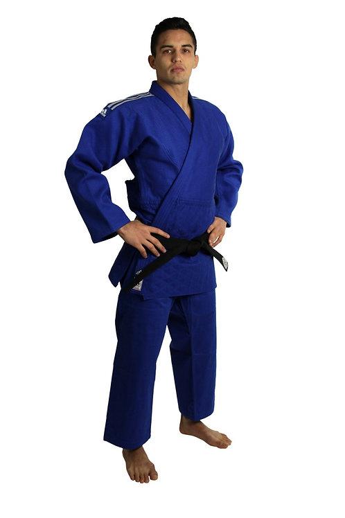 Kimono Judo Champion II adidas com novo Selo Eletronico da IJF Azul