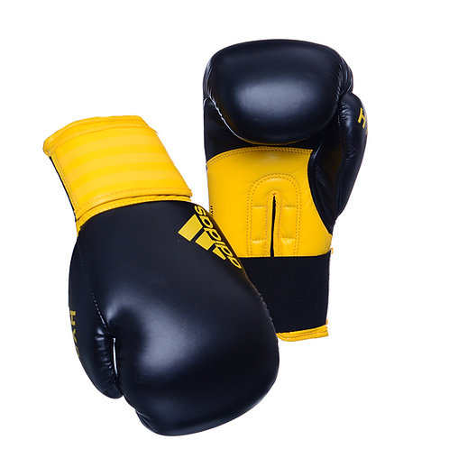 Luva de Boxe Muay Thai Adidas Hybrid 100 Amarelo/Preto