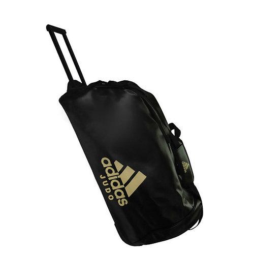 Mala Judô com Rodinhas Adidas Trolley Bag PU Preto/Dourado