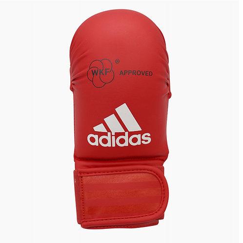 Luva Adidas Karatê sem Dedão Vermelha WKF