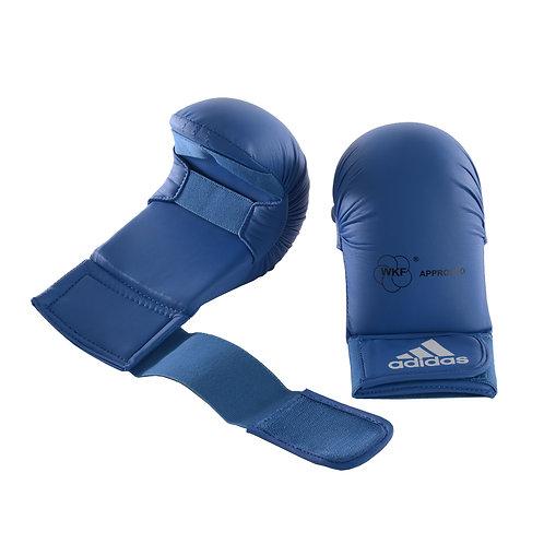 Luva Adidas Karatê sem Dedão Azul WKF