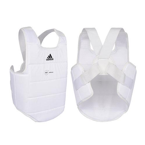 Protetor de tórax Adidas Karatê WFK Branco/Preto
