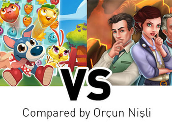 Match-3 Games: Farm Heroes Saga vs Mystery Match