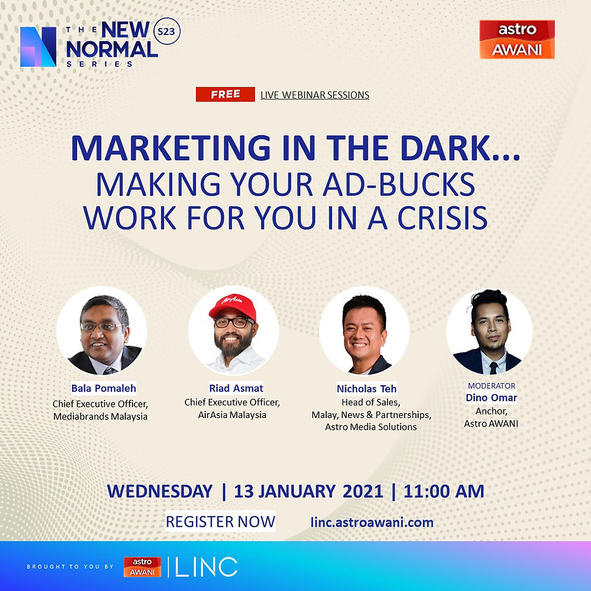 Marketing in the dark... making your ad-bucks work for you in a crisis