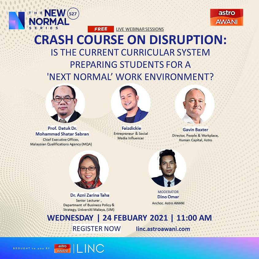 Crash Course on Disruption: Is the current curricular system preparing students for a 'next normal' work environment?
